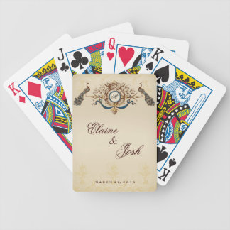 Elegant Peacocks Bicycle Playing Cards