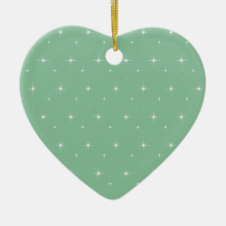 Elegant Peapod Colour. Mint Green And Bright Stars Christmas Ornaments