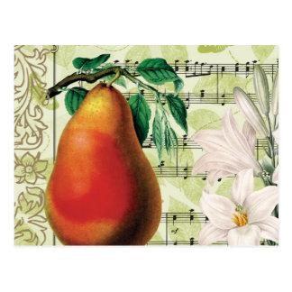 Elegant Pear Postcard