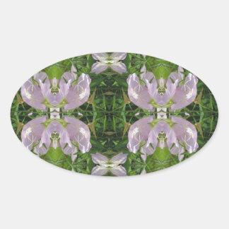 Elegant  Pearl Flowers CHERRY HILL NJ nvn214 JOSHI Oval Sticker