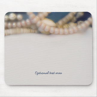 Elegant Pearls & Sea Shells Beach Personalized Mouse Pad