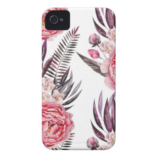 Elegant Peonies Floral Case-Mate iPhone 4 Case
