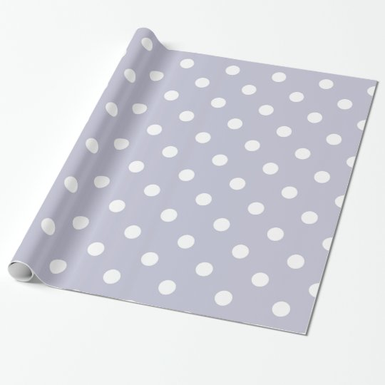 Elegant Periwinkle Blue Polka Dots Wrapping Paper