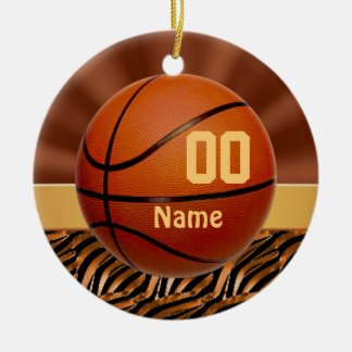 Elegant Personalized Basketball Ornaments for Her