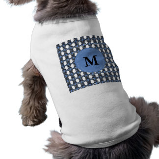 Elegant Personalized Blue Abstract Scarab Pattern Pet Clothing