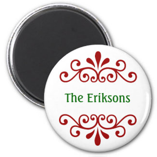 Elegant Personalized Christmas Magnet