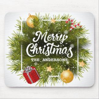 Elegant Personalized Christmas Tree | Mousepad