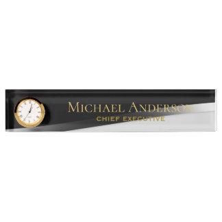 Elegant Personalized Desk NAME Plate Classic Black