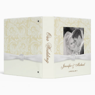 Elegant Personalized Wedding Album or Planner Binders