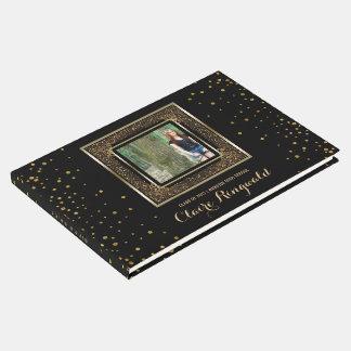 Elegant Photo Graduation Party | Glam Gold Glitter Guest Book