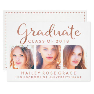 Elegant Photo Graduation Party Invitation