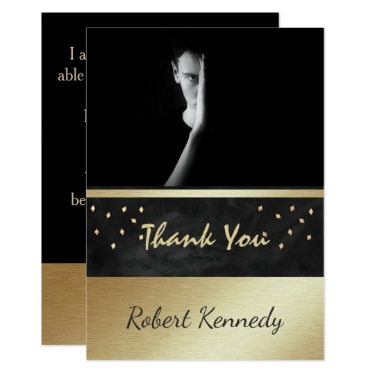 Elegant photo Graduation Thank You Card