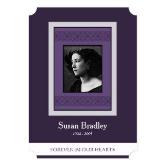 Elegant Photo Purple Template Memorial Funeral