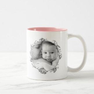 "Elegant photo template ""Mum in a million"" Two-Tone Coffee Mug"