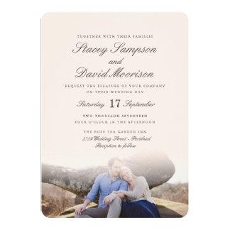 "Elegant Photo Wedding 5"" X 7"" Invitation Card"
