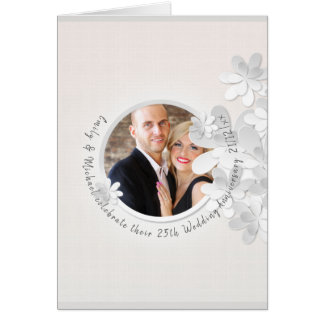 Elegant PHOTO Wedding Anniversary Card Thank You