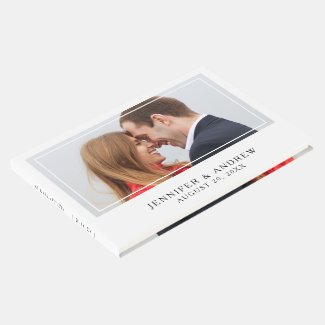 Elegant Photo Wedding Guest Book