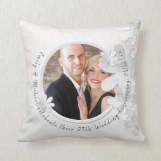 Elegant PHOTO Wedding or Anniversary Pillow Custom