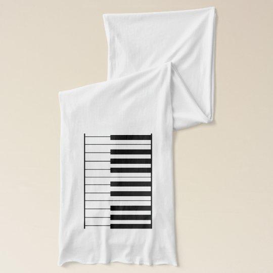 elegant piano keys scarf wrap