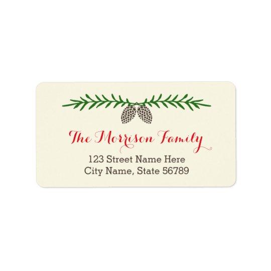 Elegant Pine Holiday Address Labels