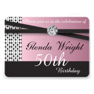 Elegant Pink and Black Invite