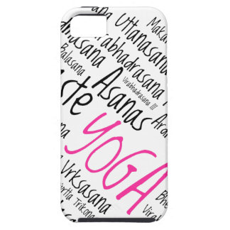 Elegant Pink and Black Yoga Positions Asanas Case For The iPhone 5