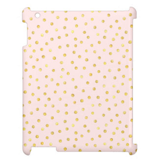 Elegant Pink And Gold Foil Confetti Dots Pattern Case For The iPad 2 3 4