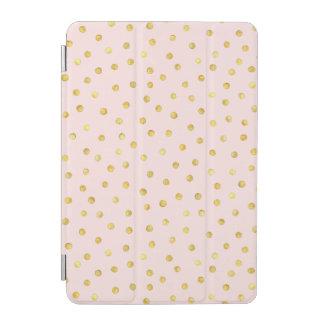 Elegant Pink And Gold Foil Confetti Dots Pattern iPad Mini Cover