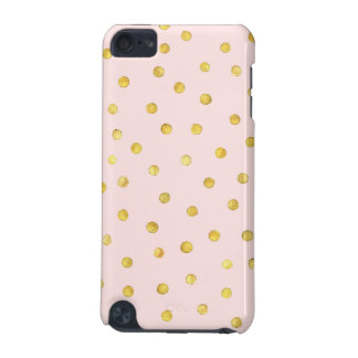 Elegant Pink And Gold Foil Confetti Dots Pattern iPod Touch (5th Generation) Cases