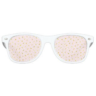 Elegant Pink And Gold Foil Confetti Dots Pattern Party Sunglasses