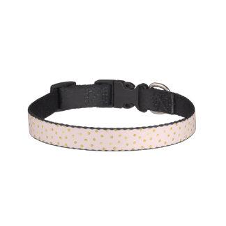 Elegant Pink And Gold Foil Confetti Dots Pattern Pet Collar