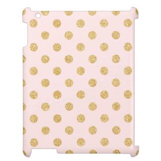 Elegant Pink And Gold Glitter Polka Dots Pattern Case For The iPad 2 3 4