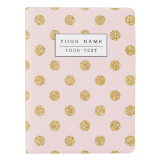 Elegant Pink And Gold Glitter Polka Dots Pattern Extra Large Moleskine Notebook