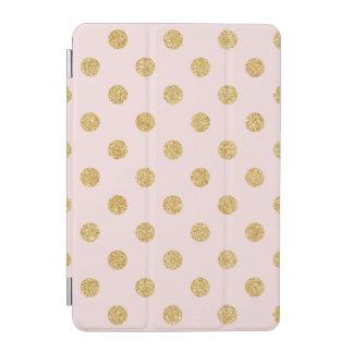 Elegant Pink And Gold Glitter Polka Dots Pattern iPad Mini Cover