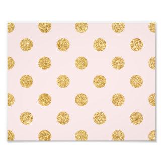 Elegant Pink And Gold Glitter Polka Dots Pattern Photo