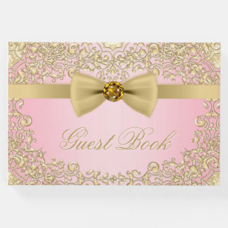 Elegant Pink and Gold Guest Book