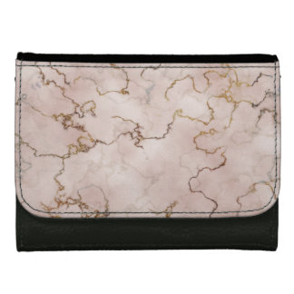 Elegant pink and gold marble Wallet