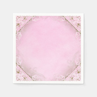 Elegant Pink and Gold Disposable Napkins