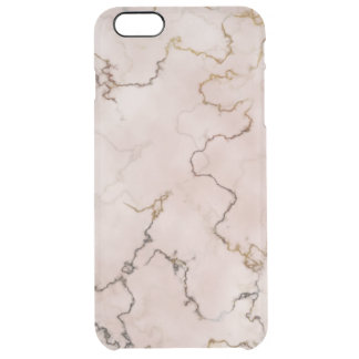 Elegant pink and gold veined marble case