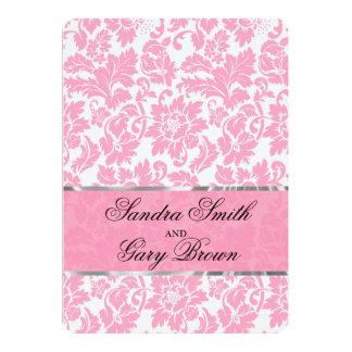 Elegant Pink And White Floral Damas Wedding Invite