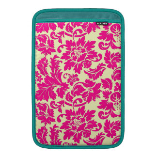 Elegant Pink & Beige Vintage Floral Damasks Sleeve For MacBook Air