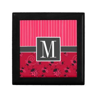 Elegant Pink & Black Ladybug Gift Box