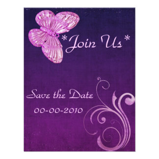 Elegant Pink Butterfly Beautiful Expressions Custom Invite