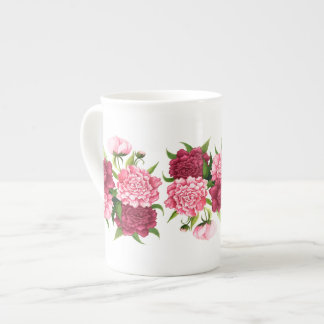 Elegant Pink Camellias Bone China Mug