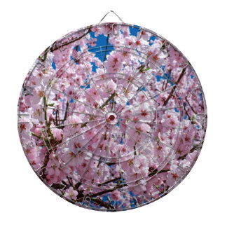 elegant pink cherry blossom tree photograph dartboard