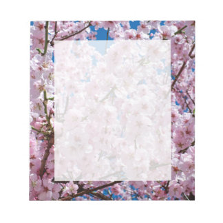 elegant pink cherry blossom tree photograph notepad