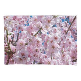 elegant pink cherry blossom tree photograph pillowcase