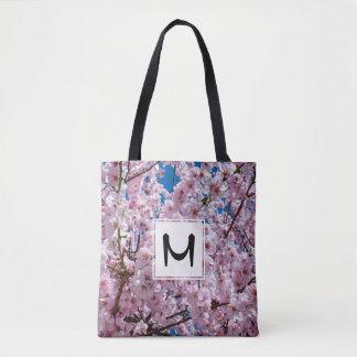 elegant pink cherry blossom tree photograph tote bag