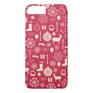 Elegant Pink Christmas Pattern | Phone Case
