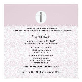 Elegant Pink Damask Invitation